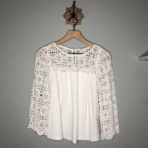 Eri + Ali Lace sleeve blouse.